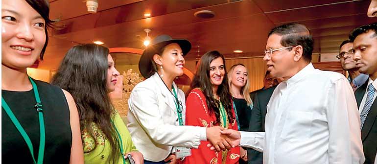 President visits Japanese 'Ship of the World' Nippon Maru