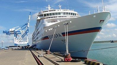 M/S/Europa calls the Port of Hambantota
