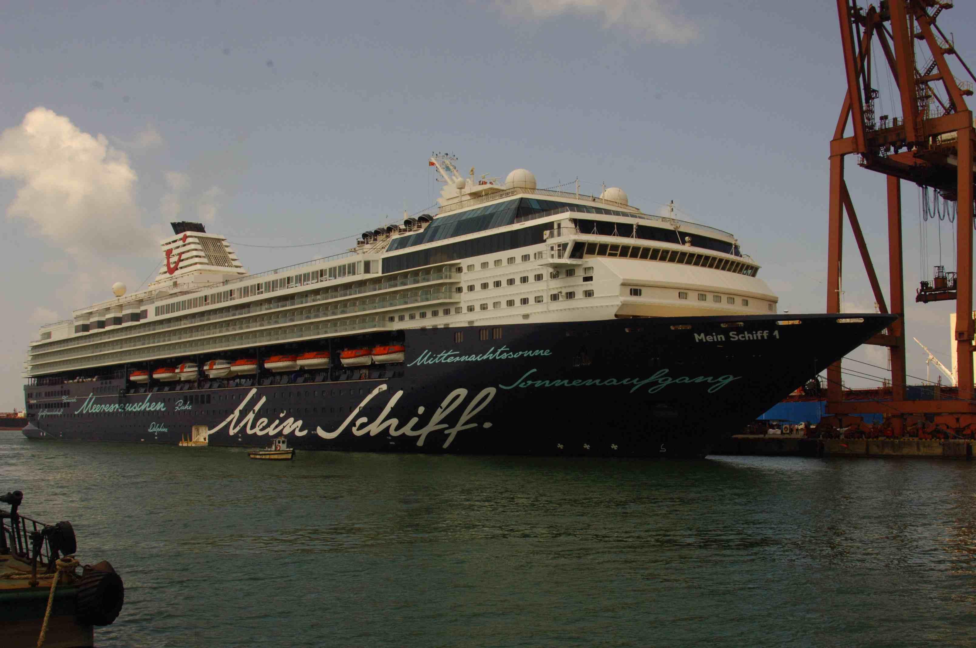 TUI Line's Super Luxury Passenger Cruiser MV Mein Schiff 1 Calls Colombo