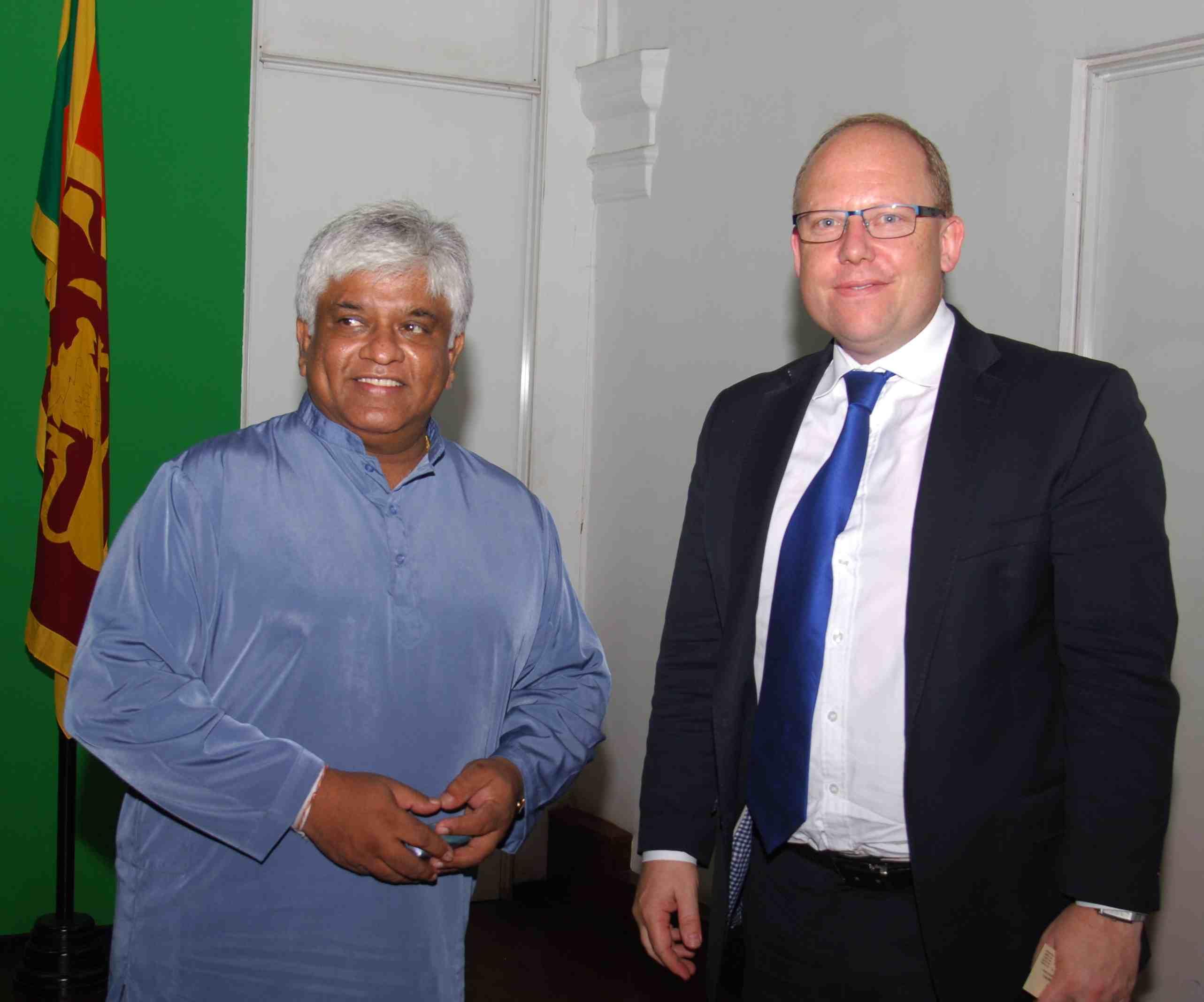 Bangladesh and New Zealand High Commissioners visit Hon. Minister of Ports, Shipping and Aviation Arjuna Ranatunga