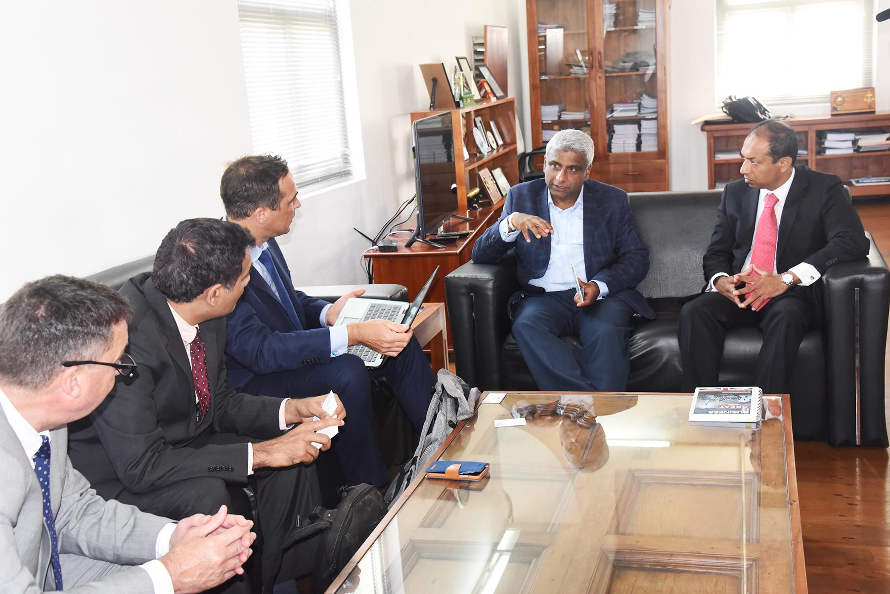 A team of British Petroleum Ltd visits Colombo Port