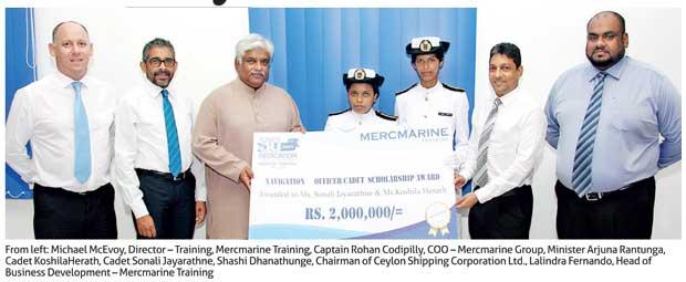 Mercmarine Training awards scholarships to female merchant Navy cadets
