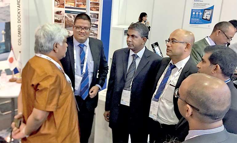 Colombo Dockyard represents Sri Lankan ship repair and shipbuilding at Sea Asia 2017, Singapore